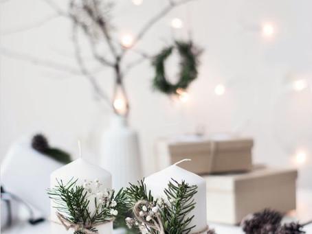 Mini DIY Kaarsen met kerstgroen