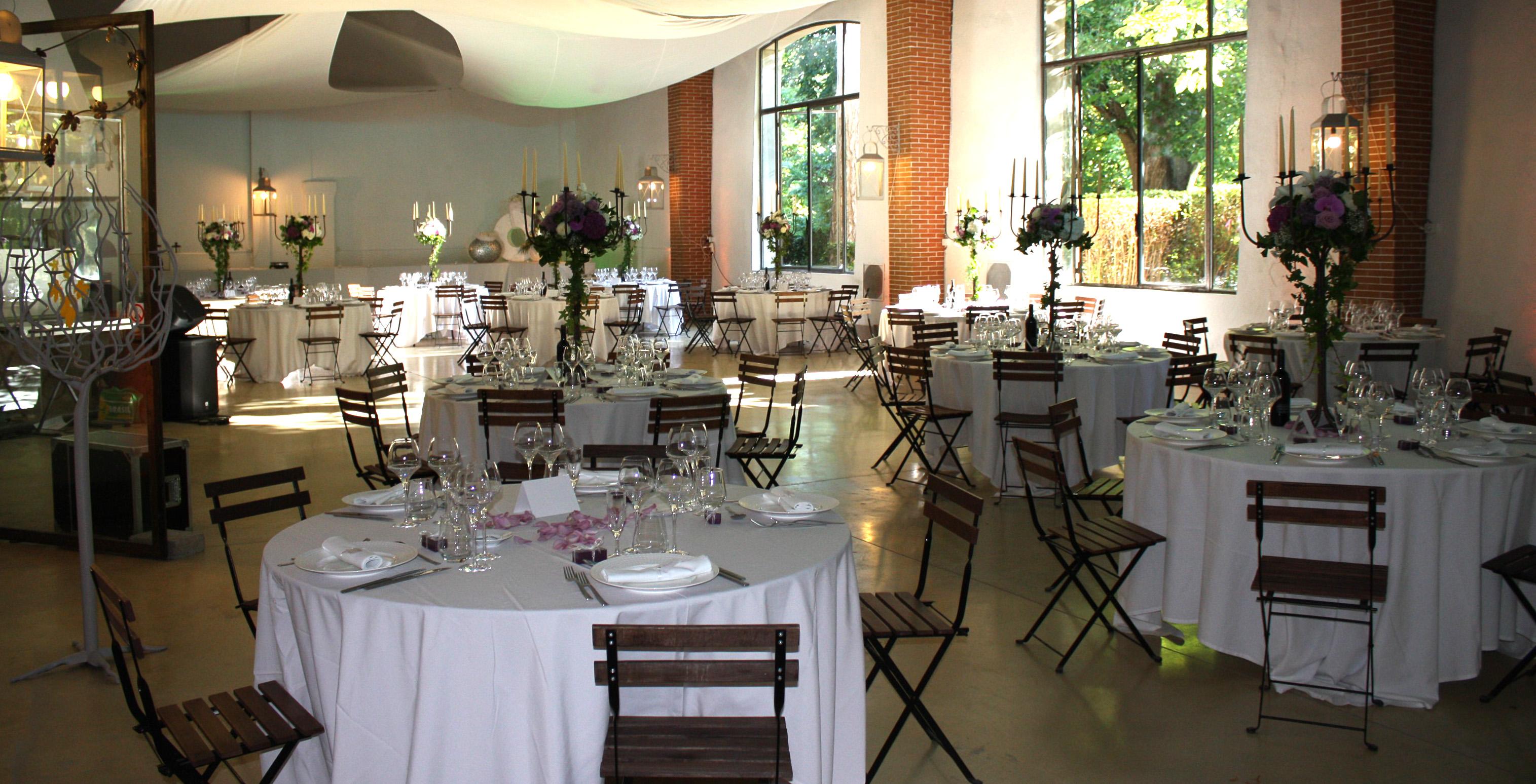 Réception dans la grande salle