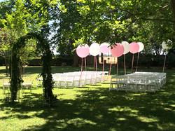 Ceremonie sur la grande pelouse