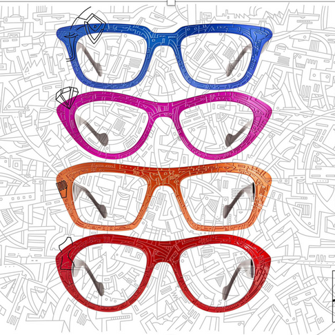 Strook draws Antwerp in 'street art' style on our frames!