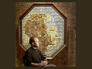Wooden mirror, using both analog and digital technologies, Work-title: Wooden Mirror