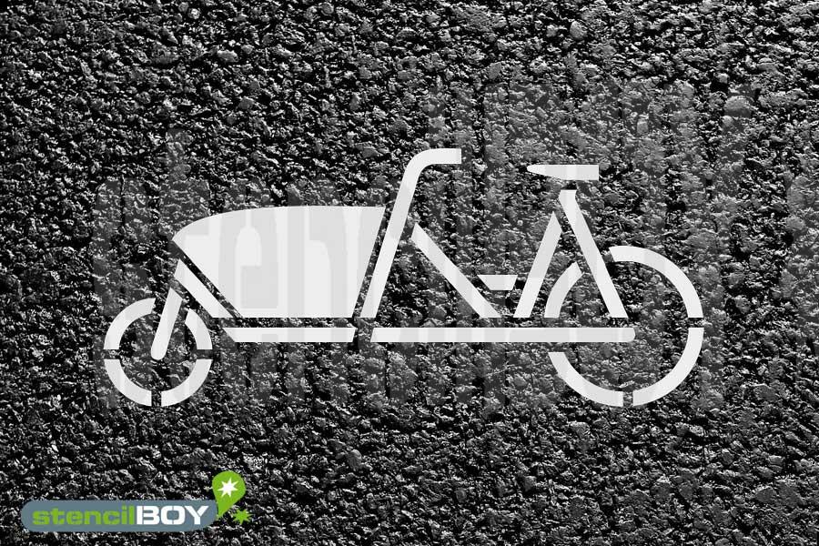 Schablone für Lastenrad, Schablone für Zusatzzeichen Lastenfahrrad