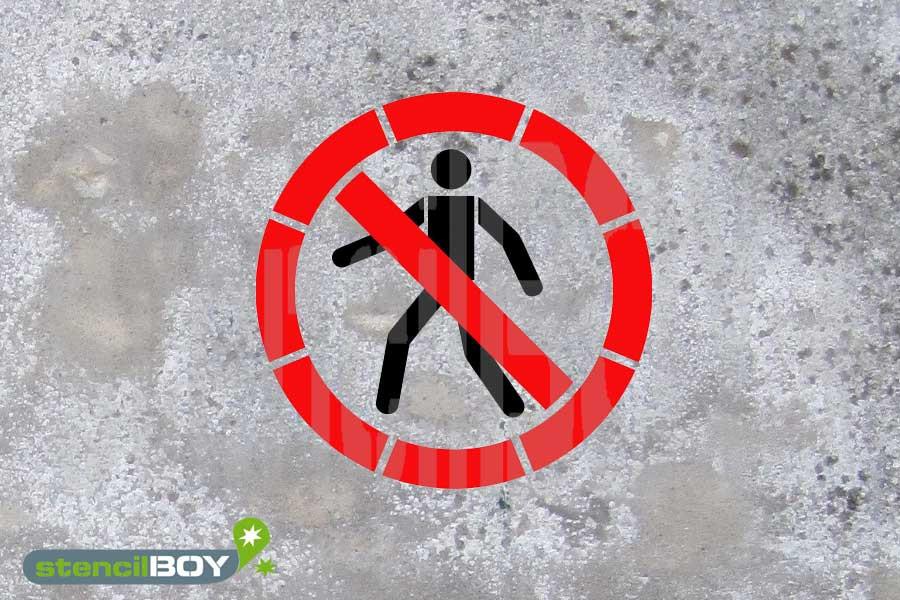 Für Fussgänger verboten - zweischlägig