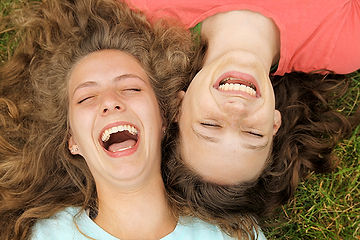 Les adolescents heureux
