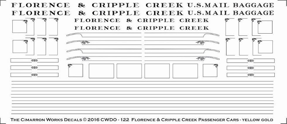 CWDO - 122 F&CC Passenger Cars