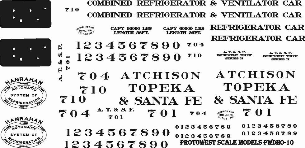 PWDHO-10 ATSF Reefer ca 1900