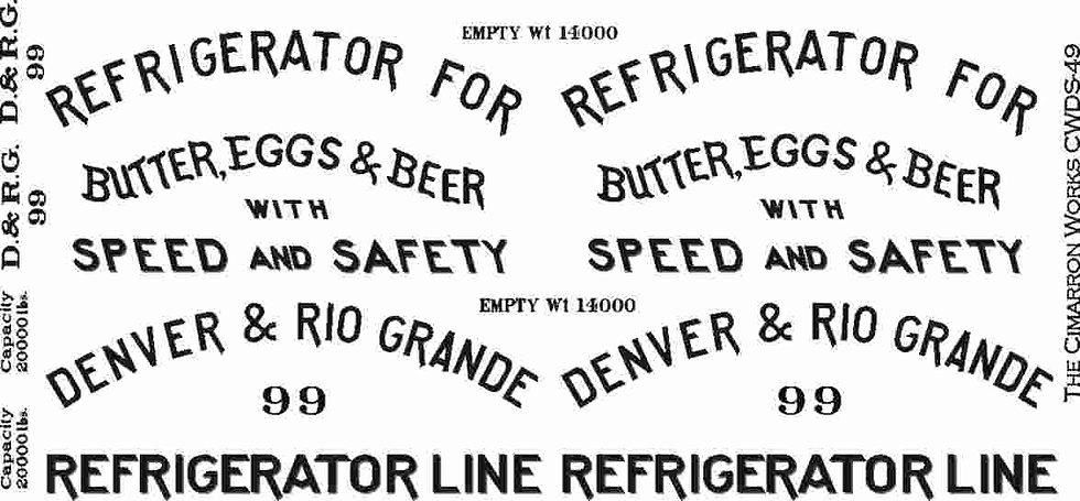 CWDS-49 D&RG Billboard Reefer #99