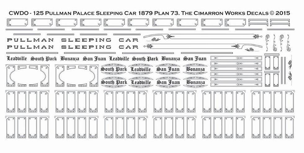 CWDO-125 Pullman Palace Sleeping Car