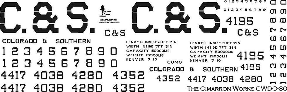 CWDHO-32 C&S Block style boxcar/coal car