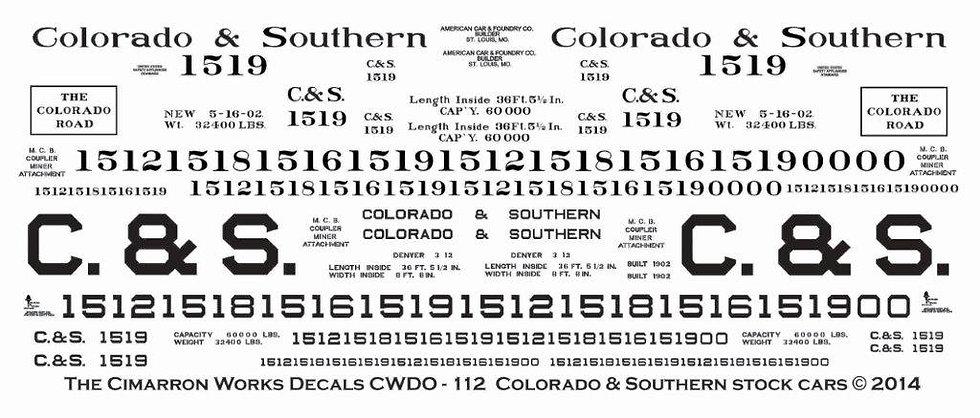 CWDO - 112 C&S Standard gauge Stock Car