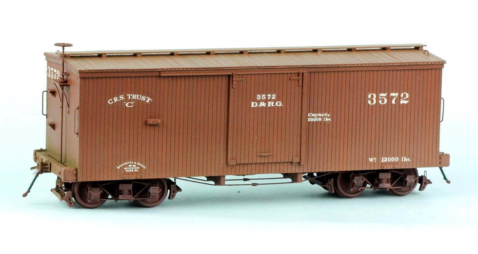 LSS-3 D&RG 24' B&S Boxcar OUT of STOCK