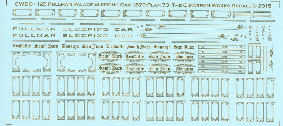 CWDO-125 DSP&P Pullman Palace Cars Design 73