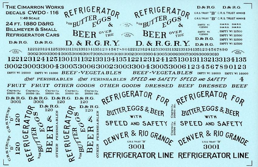 CWDO-116 24' 1880 D&RG Billboard Reefer