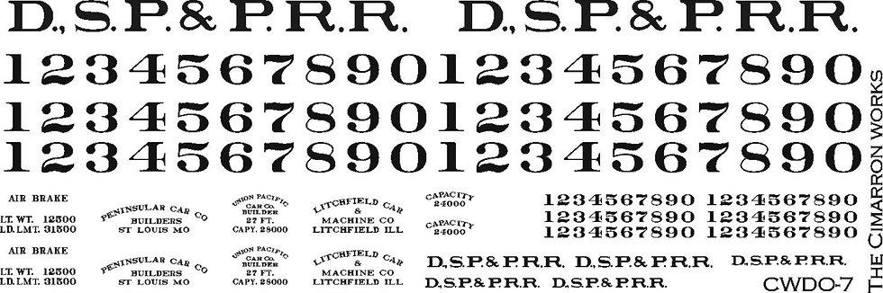 CWDO-7 DSP&P Boxcar 1883