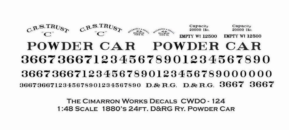 CWDO - 124 early D&RG Powder Car