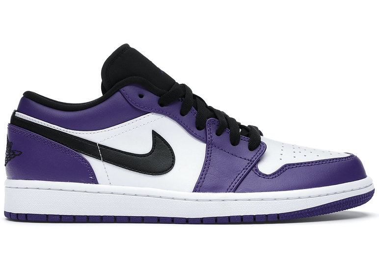 Jordan 1 low Court Purple (Size 9.5)