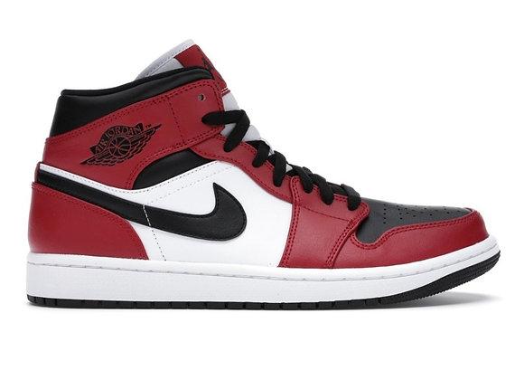 Jordan 1 mid black toe (Size 12)