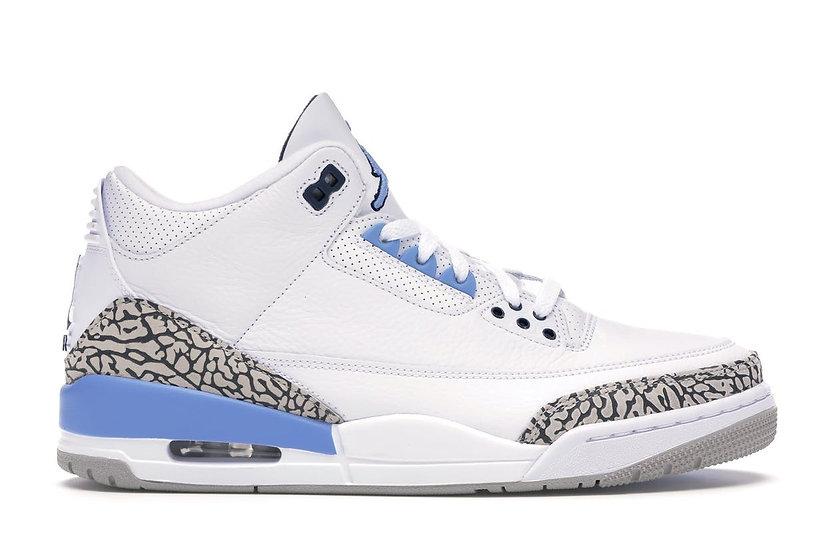 Jordan 3 UNC  (Size 8.5)