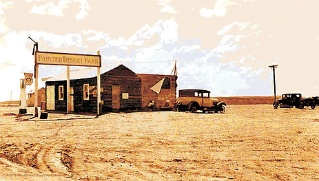 rt66-painted desert parkAZ - 30s - bldg-