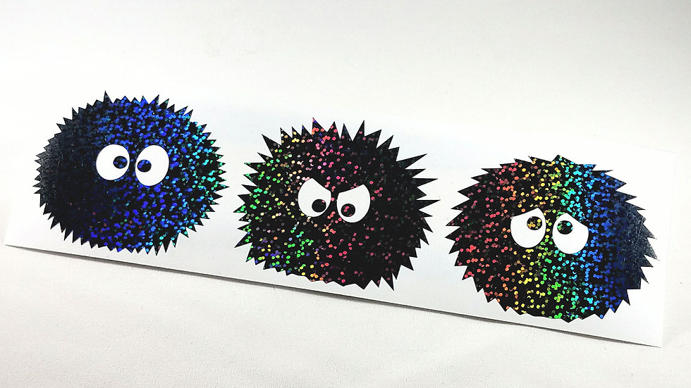 Dust Bunnies - Die Cut Decal (Holographic Sequins)