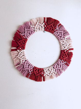Macrame Valentine's Wreath