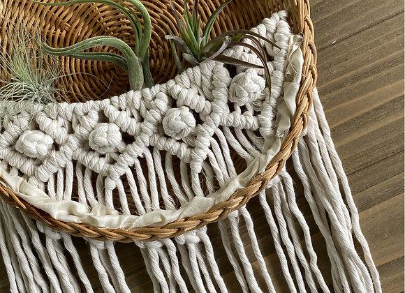 Macrame Basket Wall Hanging