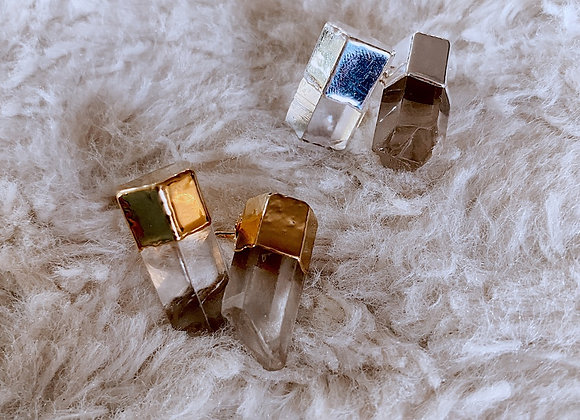 Crystal Quartz Studs