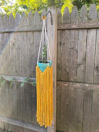 Fringe Plant Hanger - Mustard