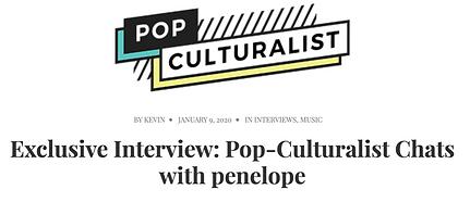pop culturalist interview penelope