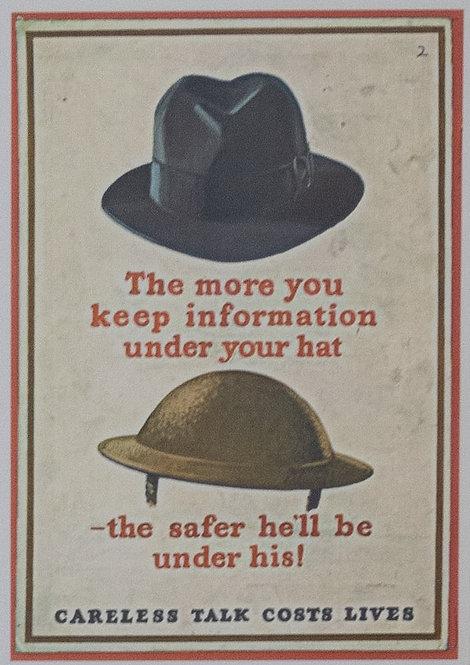 Careless Talk Costs Lives (Hats)