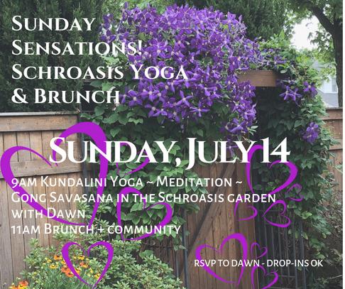 Sunday Sensations Schroasis Yoga & Brunc