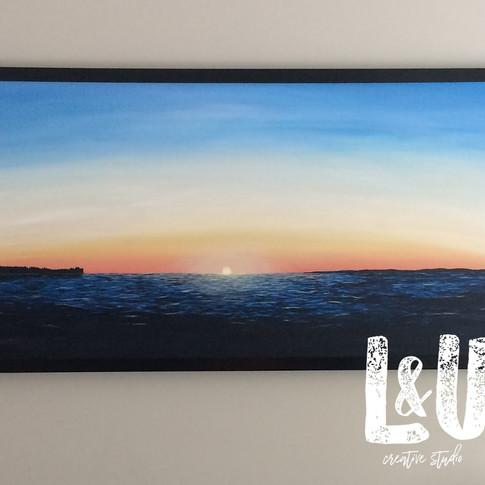 Lake Simcoe Sunrise painting