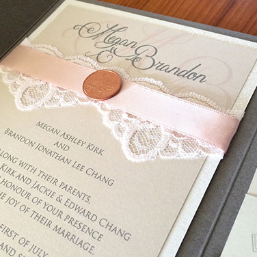 Megan and Brandon Wedding Invite