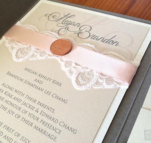 Megan and Brandon Wedding Invite