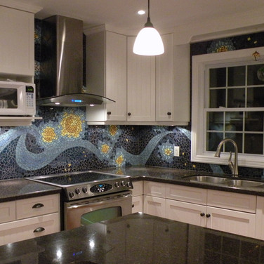 Stary Night Backsplash