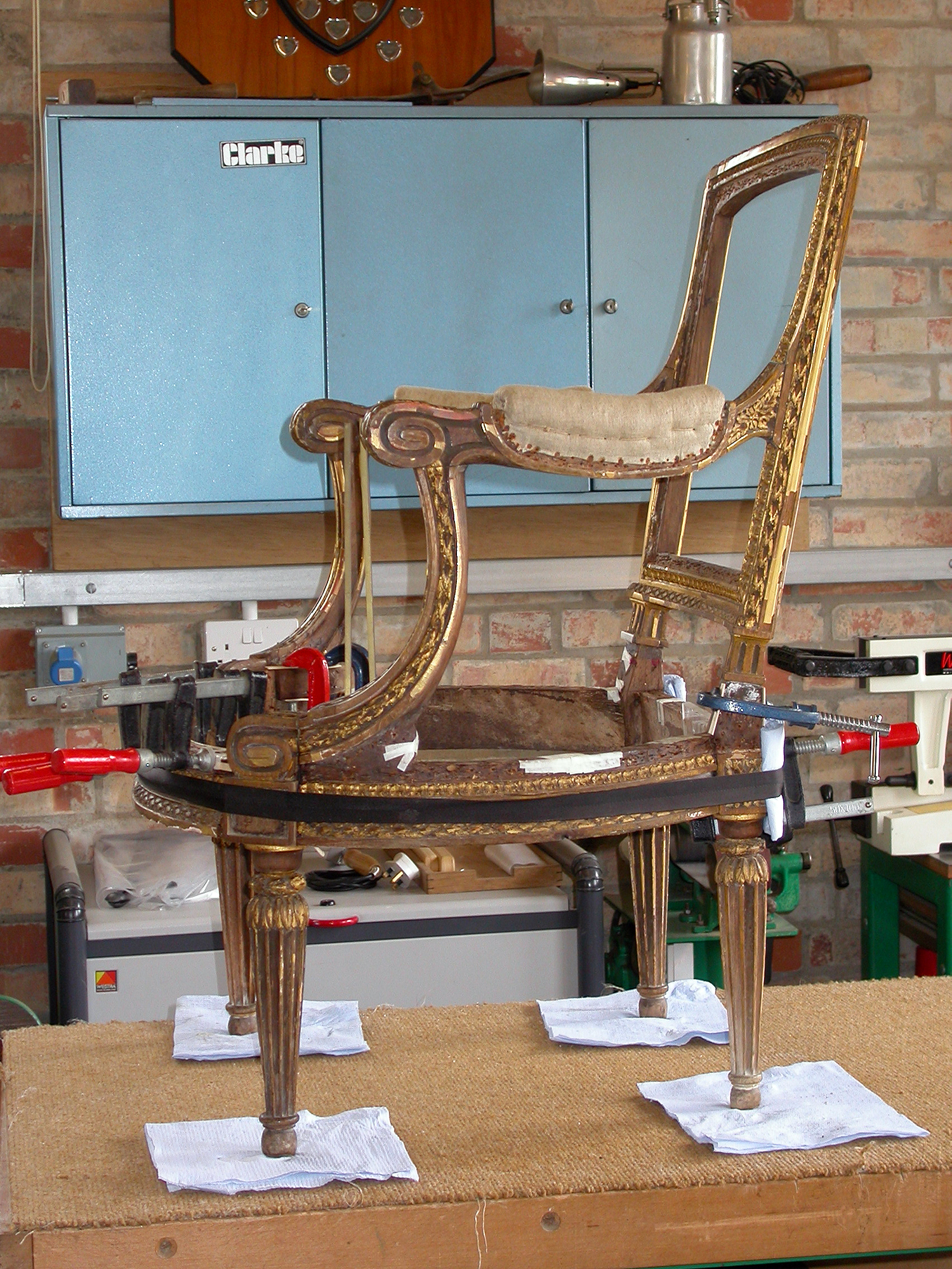 A Georges Jacob giltwood armchair
