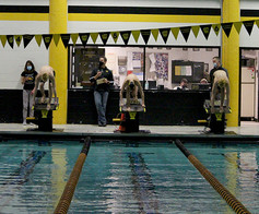 Despite COVID-19, the boys swim team dives into their season