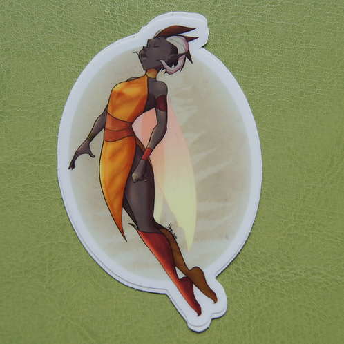 Orange Fairy Sticker