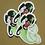 Thumbnail: Green Heart Clear Cut Sticker