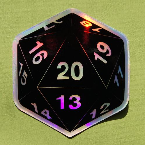 D20 (Holo) Sticker