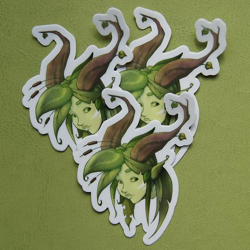 Leaf Tiefling Sticker