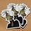 Thumbnail: Green Elf Clear Cut Sticker