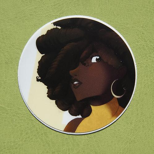 Orange Shirt Circle Sticker