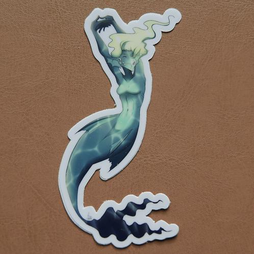 Stretching Mermaid Sticker