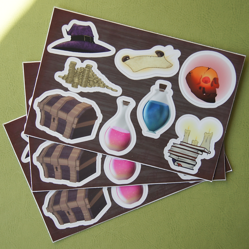 D&D Sticker Sheet