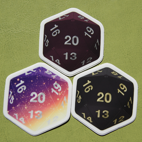 D20 Trio Stickers
