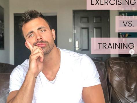 Training Vs. Exercise