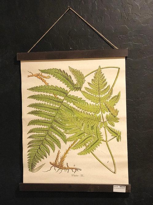 Linen fern wall hanging