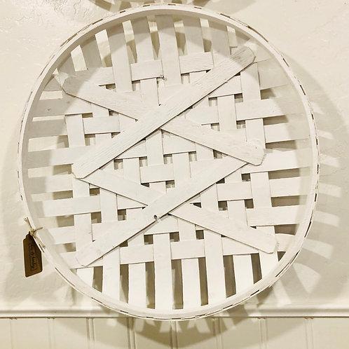 White tobacco basket- large