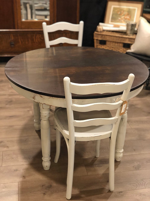 Vintage bistro table with two chairs